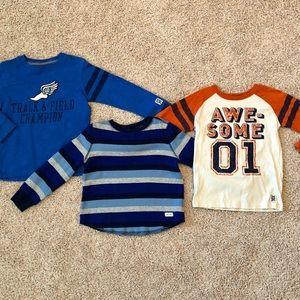 3 boys long sleeve shirt bundle, size 4/5
